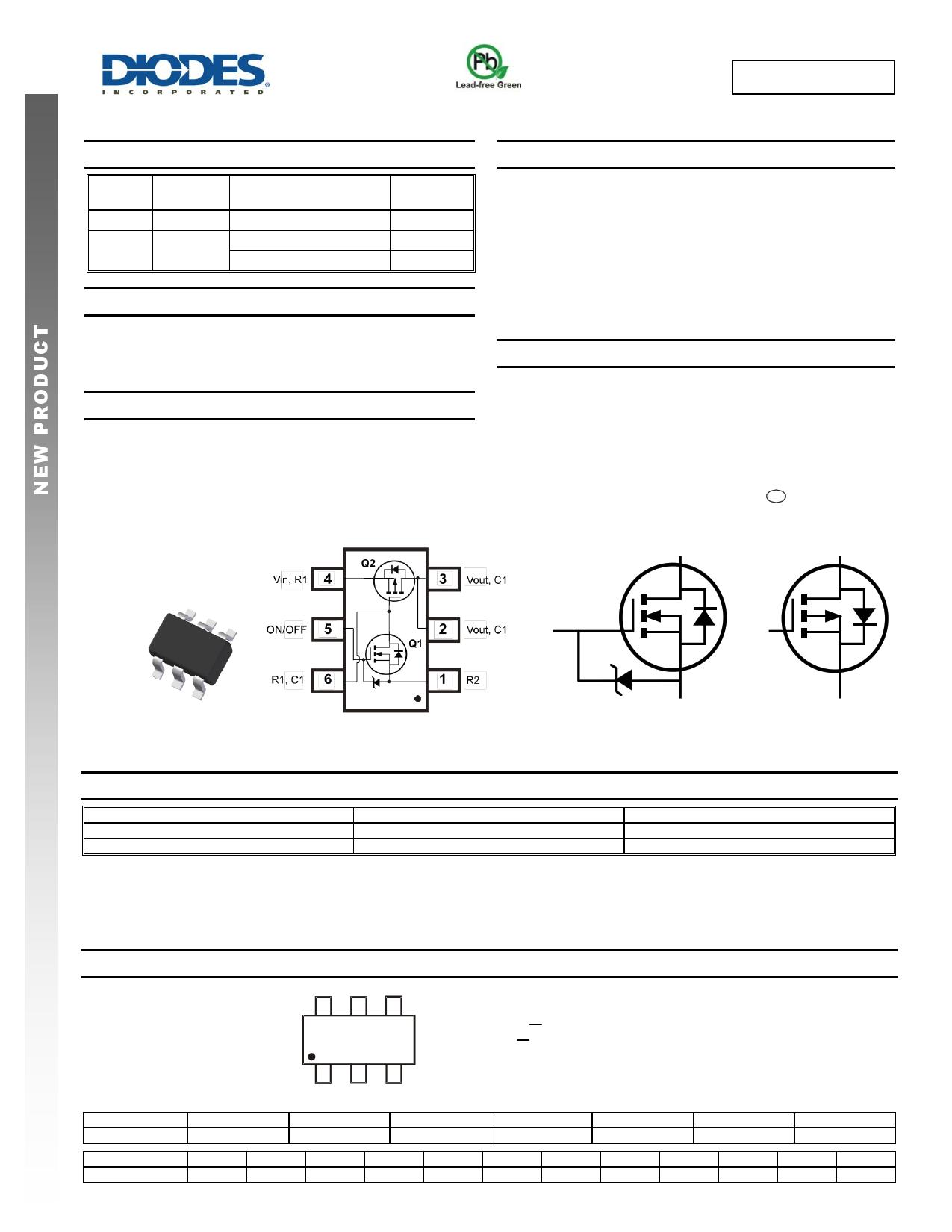 DMC25D0UVT datasheet