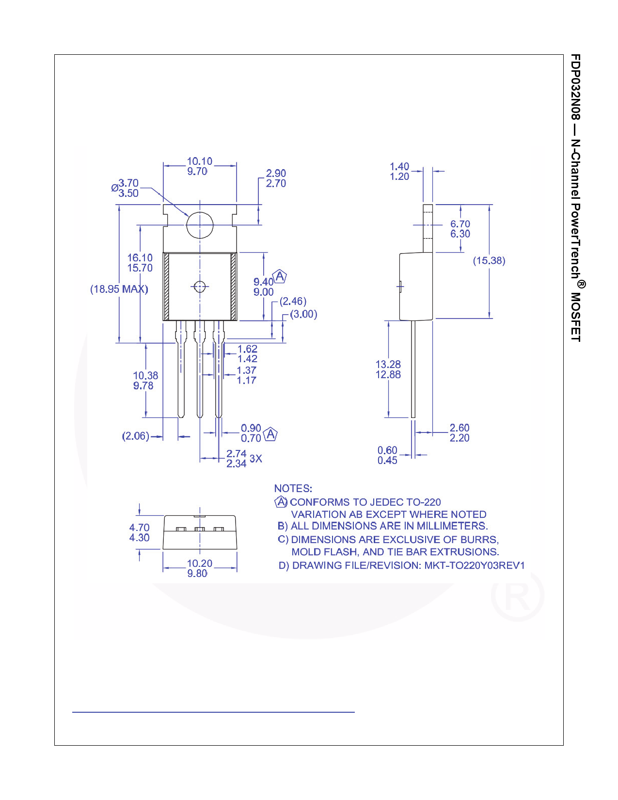 FDP032N08 전자부품, 판매, 대치품