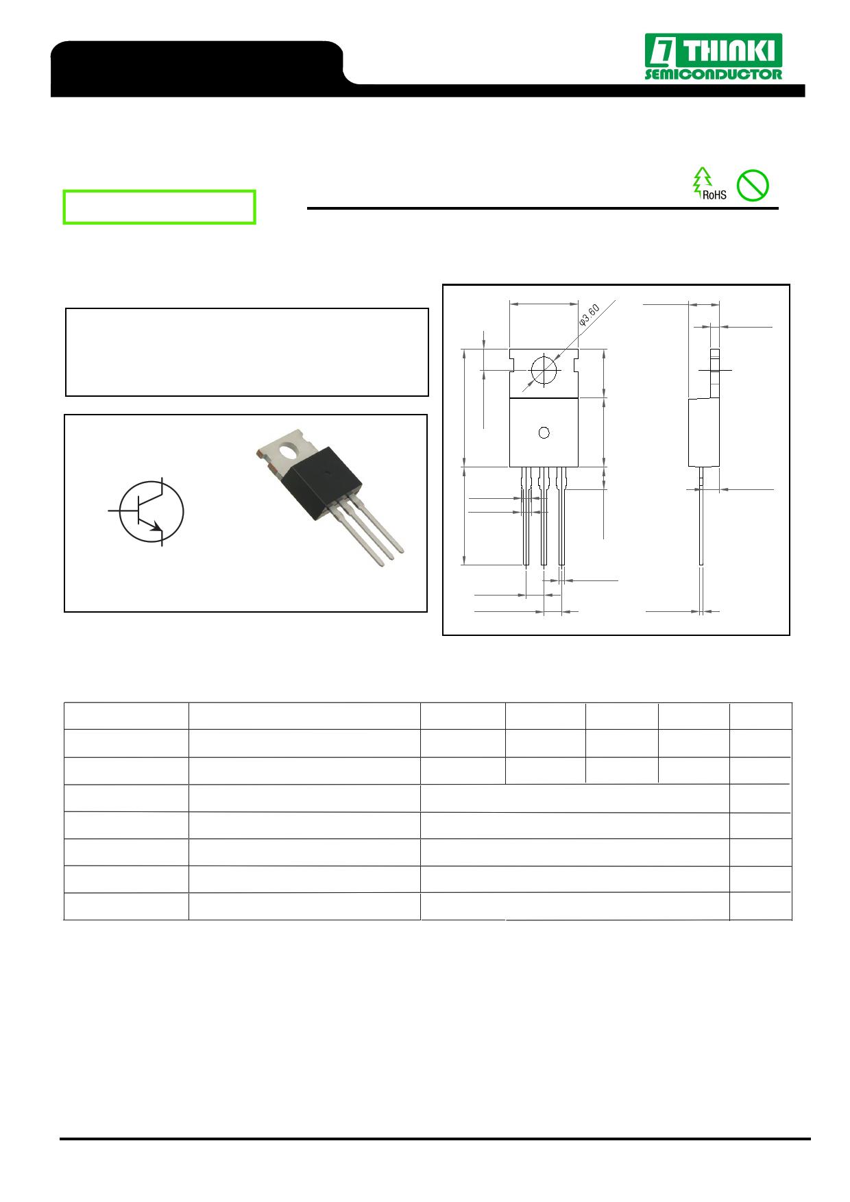 TIP41C datasheet pinout